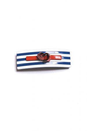 Haarspange navy rot Ansicht 1