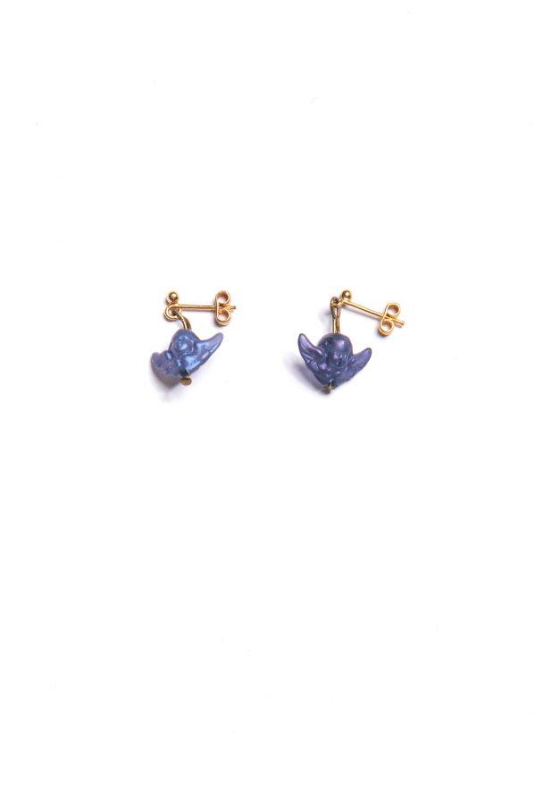 Halskette & Ohrringe dunkelblaue Engel Ansicht 3