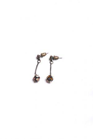 Ohrringe braune Steine