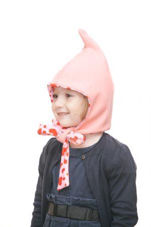 Zipfelmütze aus rosa Loden mit Herzerlfutter für 1-6 Jahre Ansicht 1