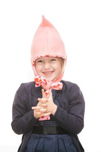 Zipfelmütze aus rosa Loden mit Herzerlfutter für 1-6 Jahre Ansicht 2